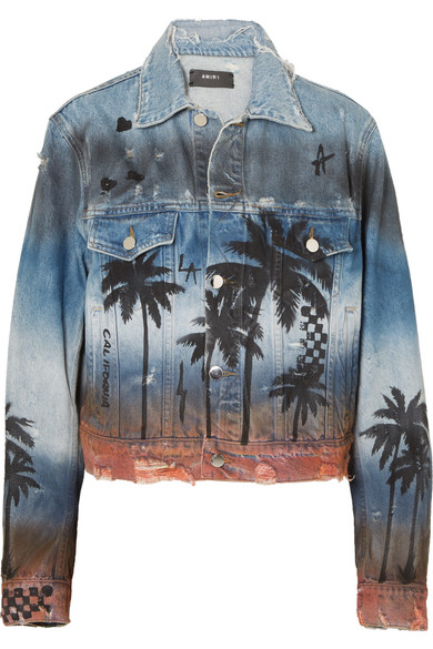 AMIRI - Distressed printed denim jacket