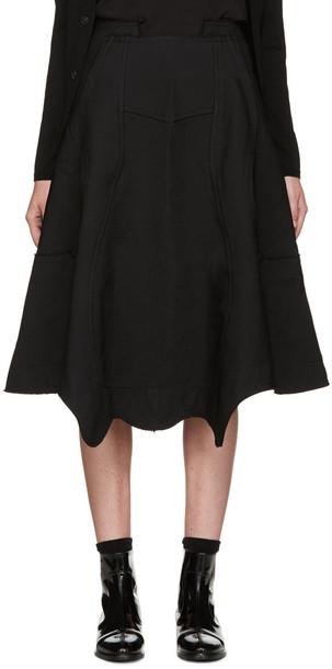 Comme Des Garçons Black Panelled Skirt