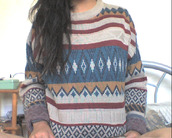 sweater,aztec,patterned sweater,tumblr
