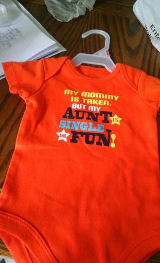 t-shirt orange baby clothing