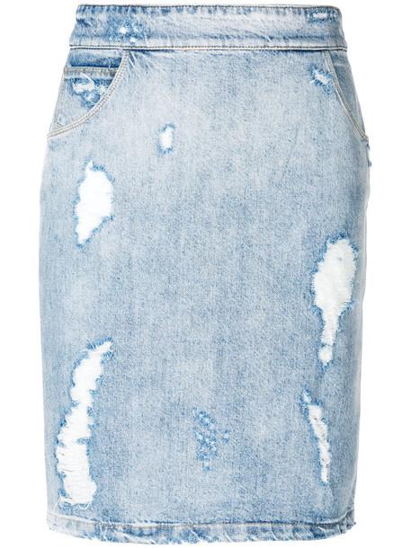 Iro skirt denim skirt denim women cotton blue