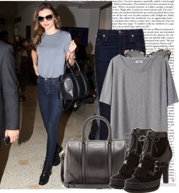 shirt miranda kerr grey grey shorts jeans shoes