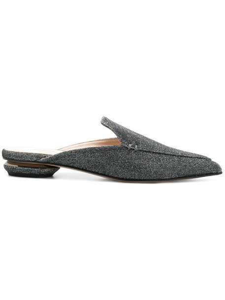 Nicholas Kirkwood women mules leather grey shoes