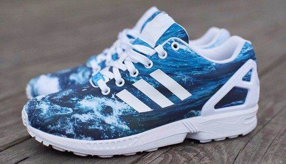 waves ocean shoes adidas zu flux