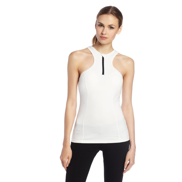 Colosseum women's white racer front performance tank top