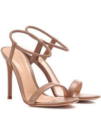sandals leather sandals leather beige shoes