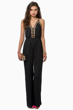 Front Caged Jumpsuit with Back Open - Love Struck