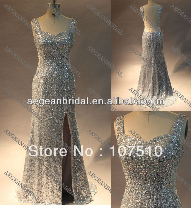 Style R120313 silver shimmer sequin transparent open back bodycon dress free shipping-in Evening Dresses from Apparel & Accessories on Aliexpress.com