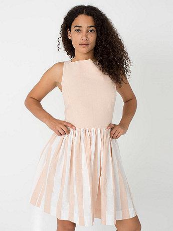 Stripe chambray sun dress