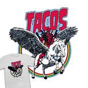 shirt,deadpool,marvel,tacos,rainbow,pegasus,badass,t-shirt