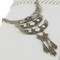 Tri-crescent pendants with fringe necklace