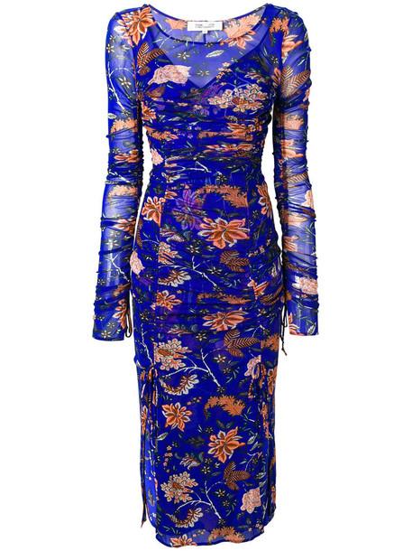Dvf Diane Von Furstenberg dress mesh women blue