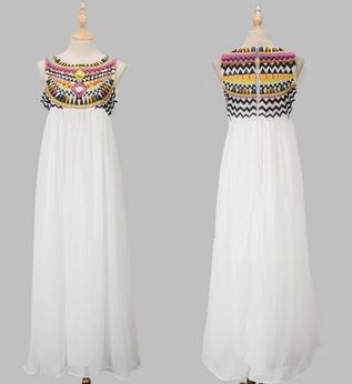 Sequins design chiffon maxi dresses