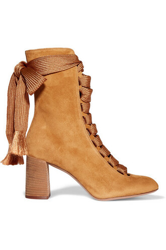 boots suede boots suede mustard shoes