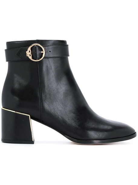 Tory Burch women leather black shoes