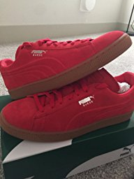 new arrivals 989a2 ce379 Amazon.com | PUMA Suede Emboss Sneaker, High Risk Red/Gum, 8.5 D US |  Fashion Sneakers