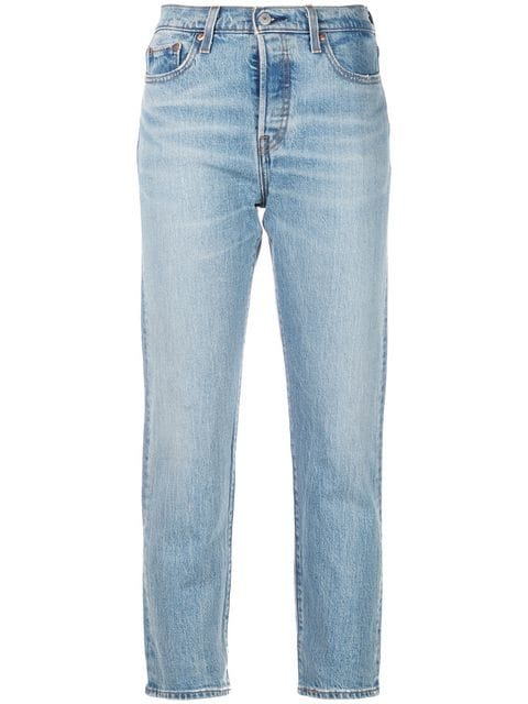 Levi's Crop Tapered Jeans - Farfetch