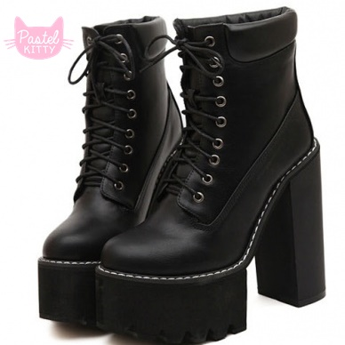 Up platform boots · pastel kitty store · online store powered by storenvy