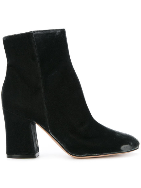Gianvito Rossi women leather velvet grey shoes