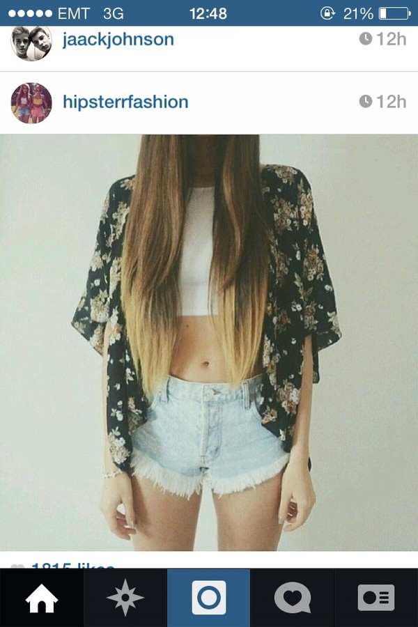 jacket floral cardigan summer outfits shorts hipster