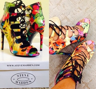 shoes multi colored steve madden