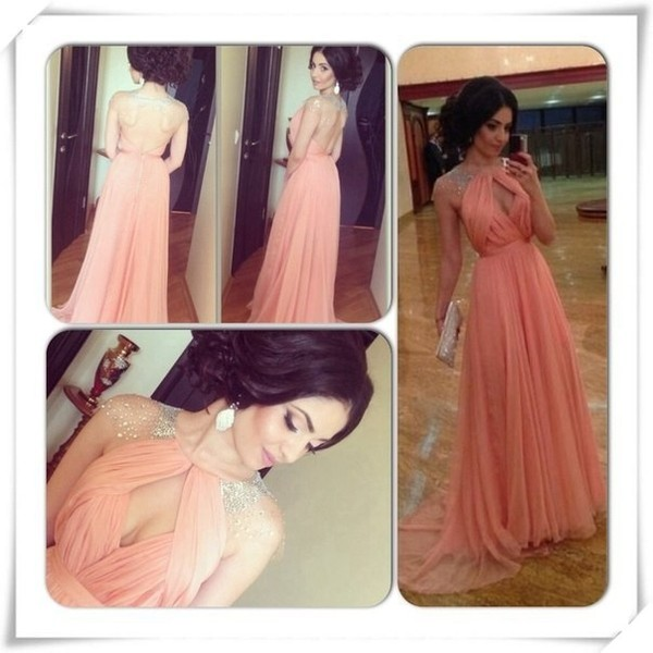 dress prom dress pink prom dress maxi prom dresses sexy back prom dress long party dress