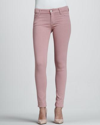 Rose Coated Skinny Jeans - Neiman Marcus