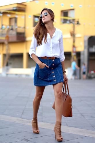 marilyn's closet blog blogger skirt blouse bag shoes jewels belt