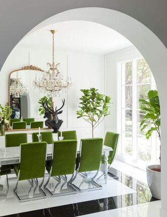 home accessory tumblr home decor home furniture dining room green chair table plants mirror