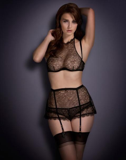334772028f9b4 underwear, black lingerie, black, lace, black lace, sheer, sheer ...