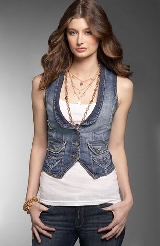 jacket clothes vest denim tight cropped fitted vest denim jacket denim vest women