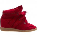 shoes isabel marant bobby red sneakers