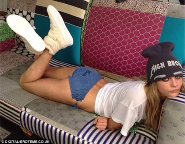 hat cara delevingne beenie underwear
