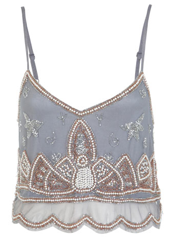 Embellished Cami Crop Top - Miss Selfridge