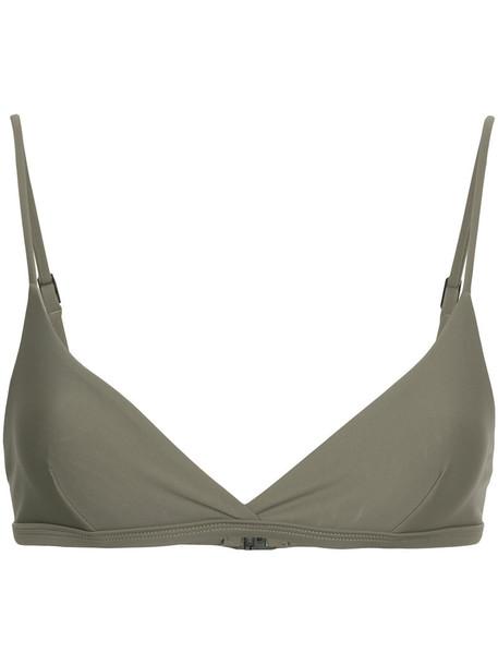 MATTEAU bikini bikini top women spandex grey swimwear
