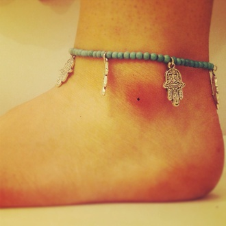 jewels hamsahand hamsa charm pretty wedding honeymoon anklet hippie indie grunge girly perfect gift ideas summer sea surf surf jewellery surf anklet beach jewellery
