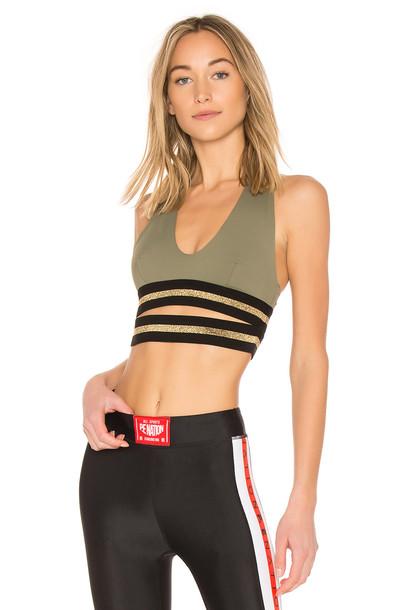 P.E Nation bra sports bra green underwear