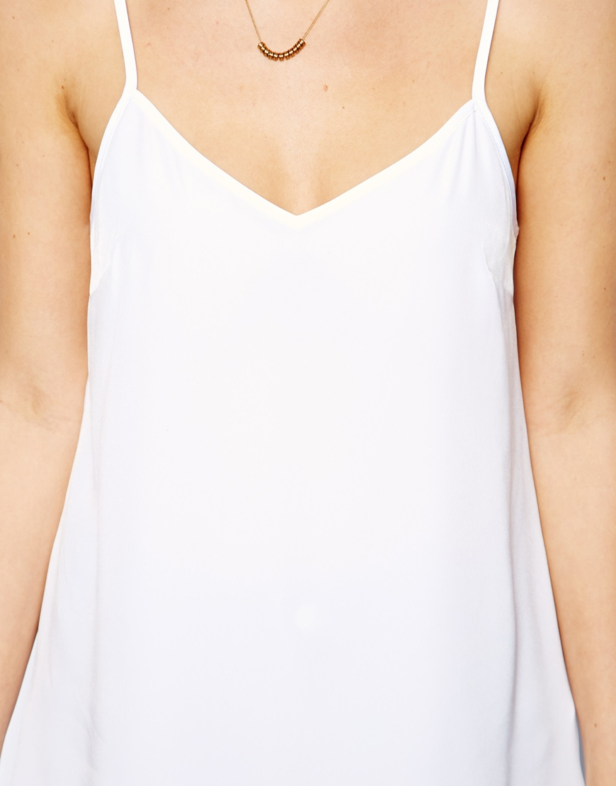 ASOS Longline Woven Cami Top at asos.com