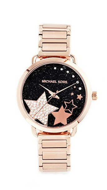 Michael Kors celestial watch rose gold rose gold black jewels