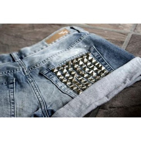 cute shorts studded