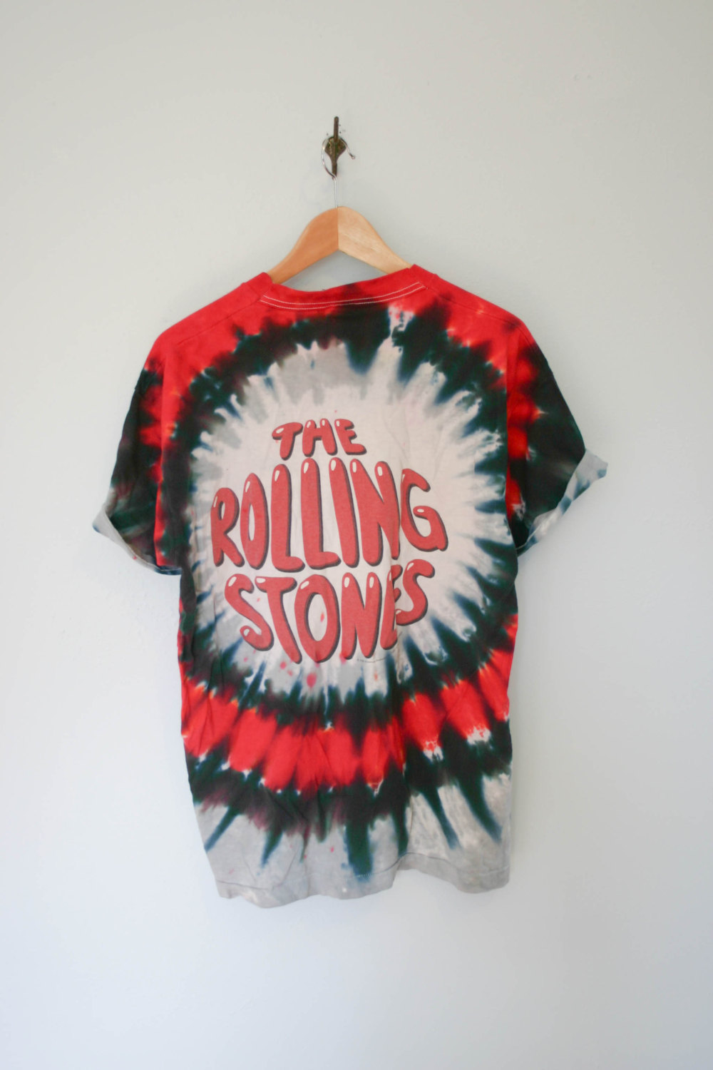 1990's Vintage Rolling Stones shirt tie dye psychedelic shirt size large