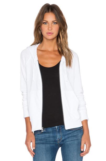 hoodie zip classic white