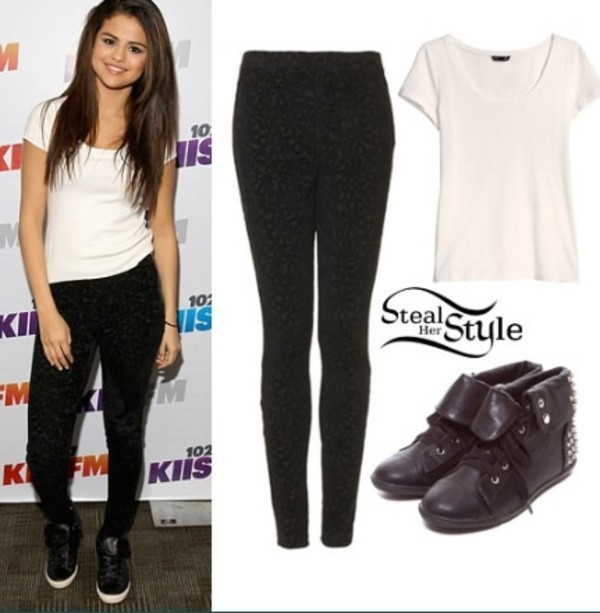 shirt selena gomez pants shoes