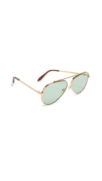 sunglasses aviator sunglasses gold green
