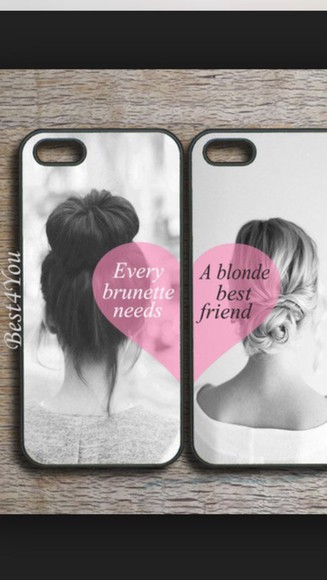 blonde hair brunette best friends phone case phone cases for bff iphone 4 case iphone 5c covers every blonde needs a brunette best friend