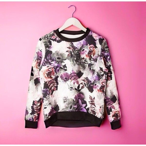 roses floral sweater blouse