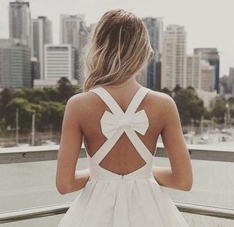dress bow back dress