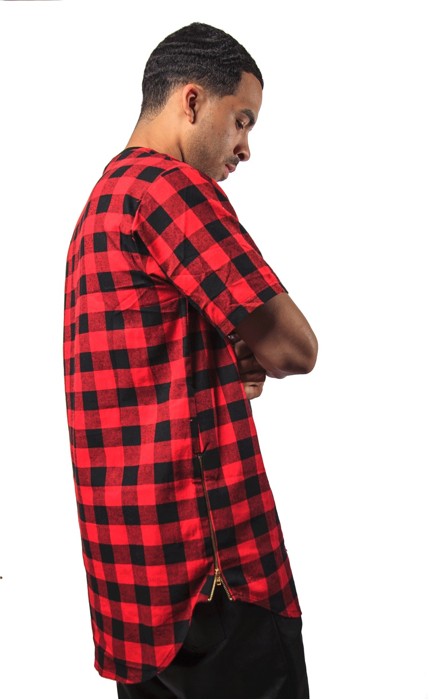 bf2eb699f30 Red Black Checkered Flannel Shirts - BCD Tofu House