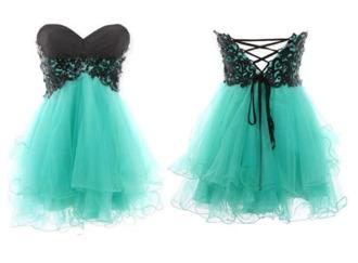 dress black mint dress butterfly