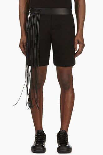 western belt leather menswear black fringes belts and suspenders